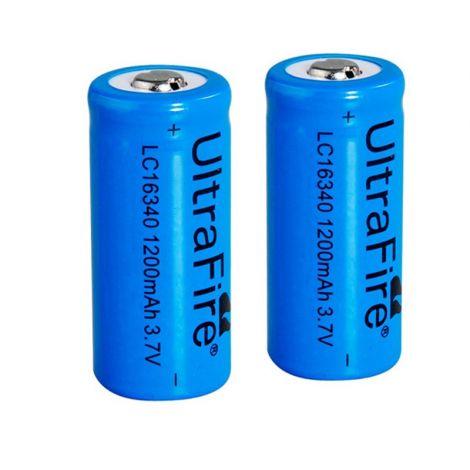 2x Ultrafire 16340 Batterien